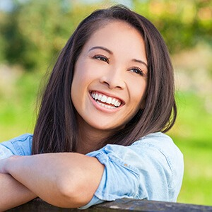 Young woman with perfect white smile