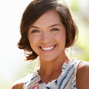 Young woman with flawlessly repaired smile