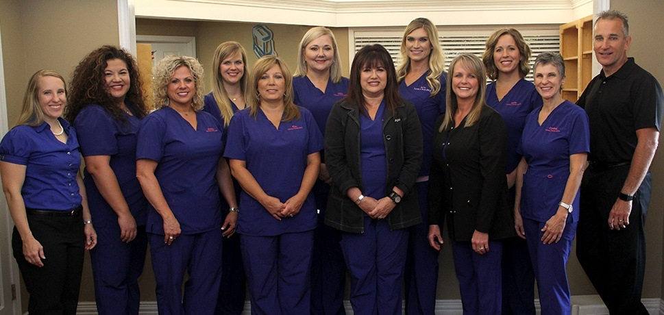 A group shot of the dental team