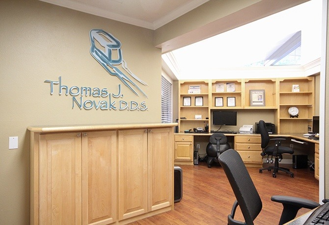 The front office at Thomas J. Novak, DDS