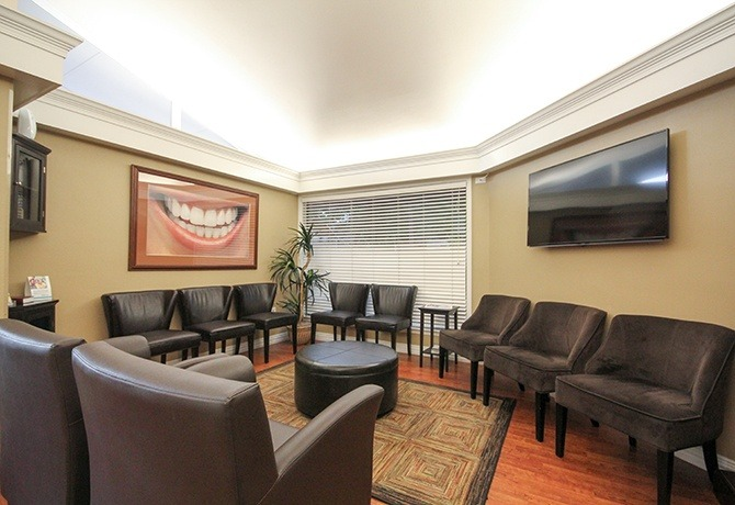 Well appointed dental waiting area