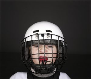 mouthguard and helmet